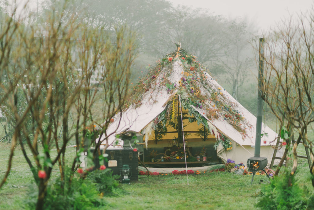 Camp Wedding Decoration DAYTIME