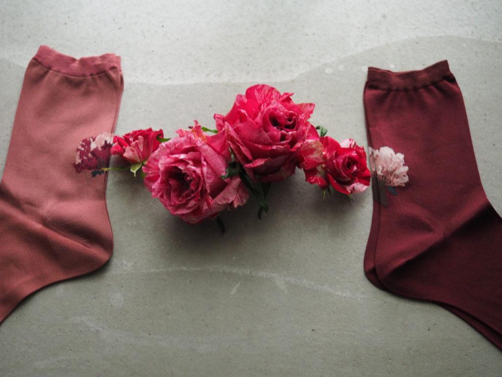 lace flower socks アネモネローズ