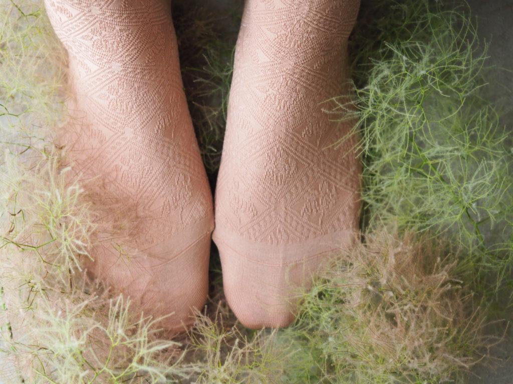 lace flower socks  スモークツリー