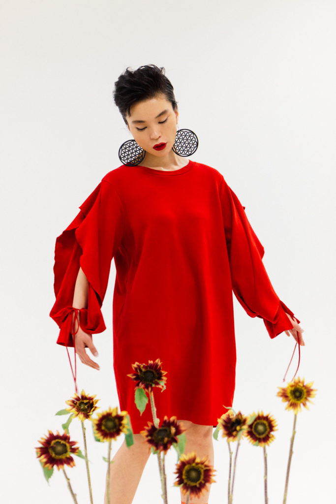 Red Woman Flowers